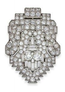 AN ART DECO DIAMOND BROOCH, BY CARTIER, circa 1920s. Christie's Magnificent Jewel Auction, May 2014, Geneva.