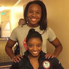Swimmer Simone Manuel and gymnast Simone Biles, Olympic gold medalists. Rio…