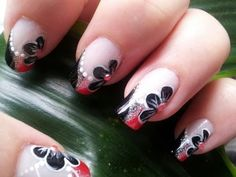 Nail Art Tutorial ~ Girly Pink and Black French