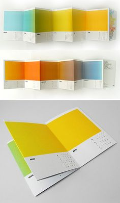 "Love these Pantone Wall Calendars! [found by Design Vagabond: ""This calendar by Jonathan Davies captures the essence of each month through a gradient of color. A beautiful item to display even after the year is over. Notebook Cover Design, Editorial Layout, Editorial Design, Layout Design Inspiration, Graphic Design Magazine, Graphic Design Calendar, Design Bauhaus, Kalender Design, Print Design"