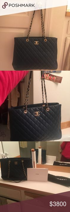 Blue Chanel Bag Blue Chanel bag. Fairly used CHANEL Bags Shoulder Bags