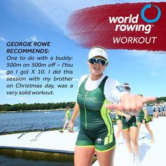 Why not hop on the erg with a buddy (that you're social distancing with) and give this workout a go? thinks its a good one (and she should know, with her 4 new world records set during lockdown) 💪⠀ . Rowing Workout, 4 News, World Records, Athletes, Wetsuit, Things To Think About, Workouts, Gym, Water
