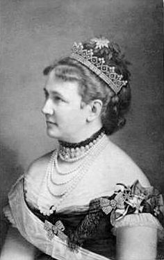 Queen Carola of Saxony (1833-1907) was born Carola of Vasa, a princess of Sweden.  She was the great-granddaughter of the French Empress Josephine, consort of Napoleon.   Princess Carola became a Roman Catholic and the wife of King Albert I of Saxony.  They had no children but a very happy marriage.