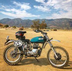T100 Motorcross Bike, Enduro Motorcycle, Motorcycle Art, Motorcycle Design, Bike Art, Bike Design, Triumph Scrambler, Triumph Motorcycles, Triumph T120
