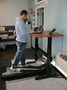 DIY Treadmill Desk Example | curated by WorkWhileWalking.com