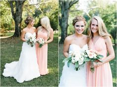 creative wedding photos. intimate wedding photography. tennessee wedding photography. peach bridal party. bridesmaids in coral dresses