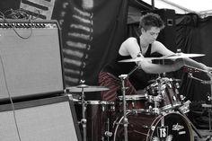 Drummer. Colour popped.