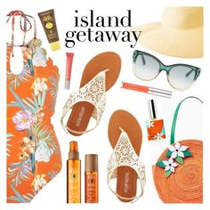 """""""Chic Island Getaway"""" by dressedbyrose ❤ liked on Polyvore featuring Olivia Miller, River Island, Alterna, Columbia, Gucci, Burberry, Forever 21, polyvoreeditorial and islandgetaway"""