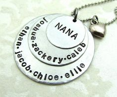Putting this on my wish list.  Personalized Necklace  Hand Stamped Jewelry by FiredUpLadiesHammer, $39.00