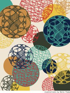 Cool student pattern design from online  course 'the art and business of surface design' with Rachel Taylor
