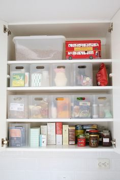 """6.5 x 6.0 x 8.75"""" clear containers from Muji.  Great for organizing the fridge in the dorm."""