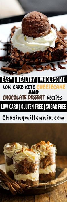 Are you looking for healthy low carb desserts that are completely sugar free and. Sind Sie a Ketogenic Desserts, Keto Friendly Desserts, Low Carb Desserts, Easy Desserts, Dessert Recipes, Diabetic Friendly, Peanut Butter Recipes, Chocolate Chip Recipes, Chocolate Desserts