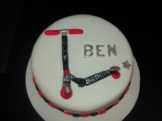 Meagher okay now he says he wants a scooter cake Teen Boy Birthday Cake, 5th Birthday, Birthday Ideas, Fondant, Kids Scooter, Scooter Scooter, Frosting Techniques, Homemade Butter, Cold Meals