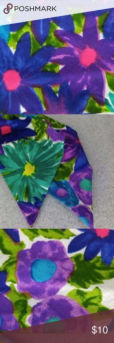Bright Flower Pin Up  Head Wrap Scarf Vintage Scarf Head Wrap Pin Up Do  Vibrant tropical colors to match every outfit!  4 inches wide, 60 inches long Vintage Accessories Hair Accessories