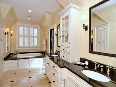 Hard to believe an historic home can have such a beautifully renovated master bath.