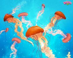 Salty sea theme. Check out our latest backgrounds & themes and join the bubble poppin' fun! Play #BubblesIQ: www.bubblesiq.com Sea Theme, Flamingo, Desktop, Bubbles, Backgrounds, Join, Wallpapers, Play, Check
