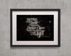 """Harry Potter """"Happiness can be Found in the Darkest of Times"""" Poster Print…"""