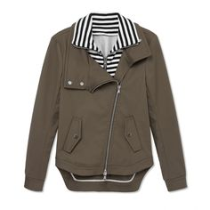 Veronica Beard Stripe Army Jacket