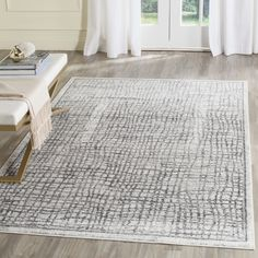 Schacher Silver/Ivory Area Rug