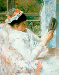 Woman Reading by Mary Cassatt is typical of Cassatt's interest in the daily lives of women. Learn about the Impressionist painting Woman Reading. Edgar Degas, Georges Seurat, Reading Art, Woman Reading, Mary Mary, Claude Monet, Mary Cassatt Art, Pierre Auguste Renoir, Pierre Bonnard
