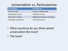 universalism vs particularism