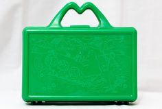 Vintage 80s McDonalds Lunch Box / Pencil Case / Happy Meal Box / Green / Plastic / 1988 on Etsy, $8.00  MINE WAS RED!!