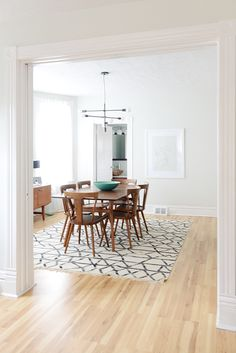 Fresh, Clean Dining Room