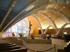San Giovanni Rotondo Sanctuary in Italy Antoni Gaudi, Renzo Piano, Pilgrimage, Restaurant Design, Places Ive Been, Entrance, Destinations, Heaven, The Incredibles