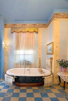 What do you think of this colorful bathroom? | Deloufleur Decor & Designs | (618) 985-3355 | www.deloufleur.com