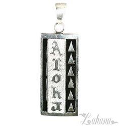 Tapa Pendant Type 6 15mm - Aloha with Triangle Designs