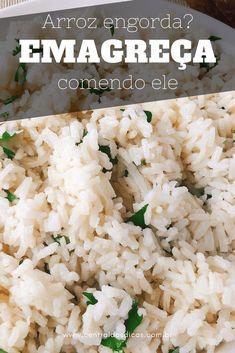 Arroz emagrecedor - Aprenda como fazer um arroz 50% menos calórico. #Emagrecer #PerderPeso #AlimentaçãoSaudável