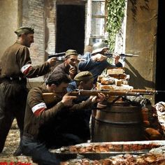 Warsaw uprising, summer 1944 - pin by Paolo Marzioli Story Of The World, Second World, Poland Ww2, Warsaw Uprising, My War, Red Army, Colour Images, Military History, Colorful Pictures