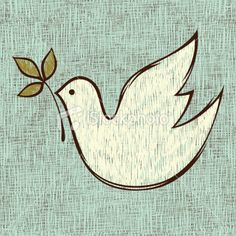 Hand-drawn white dove of peace with olive branch in its beak royalty-free handdrawn white dove of peace with olive branch in its beak stock vector art & more images of bird Peace Bird, Peace Dove, Dove With Olive Branch, Dove Drawing, Thinking Day, White Doves, Peace On Earth, Seamless Background, Free Vector Art