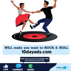 Will make you want to rock & Roll 10dayads.com ‪#‎RockAndRoll‬ ‪#‎Dance‬ ‪#‎Enjoy‬