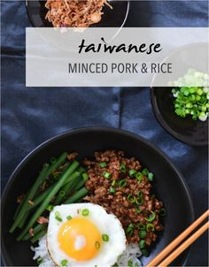 Taiwanese minced pork and rice recipe