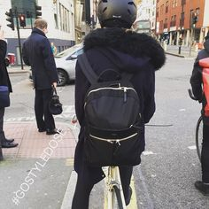 Cycling in fur and gold. Happy Saturday. Not hung over for a change @knomolondon #backpack #GOSTYLEDOSE Your daily dose of London cycle street style by Jacqui Ma #cyclestyle #cyclechic #bikestyle #cyclestyle #eastlondon #hackney #whyibike #singlespeed #spaceforcycling #instabike #bicycles #fixie #bikeinthecity #bikepretty #mycommute #cyclist #dailyride #wellplacedbike #streetstyle #baaw