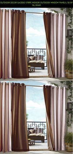 Outdoor decor Gazebo Stripe Indoor Outdoor Window Panels, 50 by 96, Khaki #outdoor #outdoor #shopping #indoor #fpv #panels #kit #camera #plans #drone #racing #decor #parts #gazebo #gadgets #products #window #stripe #tech #technology