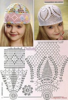 pretty crochet hats! Meu Mundo Craft: Touca de verão para meninas