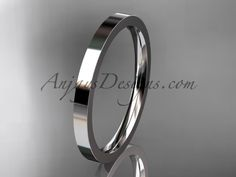 shop online for flat pipe cut wedding bands & engagement rings at anjaysdesigns.com Free shipping platinum 2mm wide his and hers wedding band WB50302G
