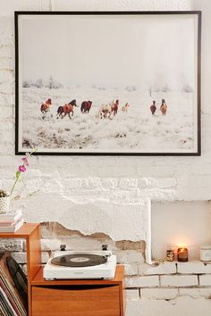 Kevin Russ Winter Horses Art Print