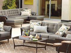 sofás de jardin de rattán sintético. Muebles de exterior