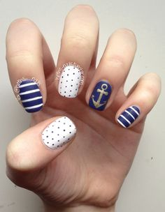 Instagram post by nails by miri nautical nail designs nautical 60 cute anchor nail designs prinsesfo Image collections