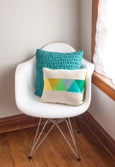 DIY Geometric Patchwork Pillow