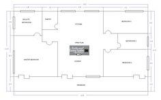 Open Plan, Pantry, Floor Plans, How To Plan, Pantry Room, Butler Pantry, Open Floor Plans, Larder Storage, Floor Plan Drawing