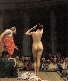 Jean-Léon Gérôme (1824 - 1904)  Selling Slaves in Rome, 1886