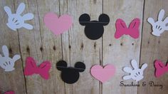 10 ft minnie mouse inspired paper garland di Sunshineanddaisy