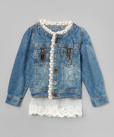 This Blue Darling Denim Jacket - Toddler & Girls by Kid Swag is perfect! #zulilyfinds