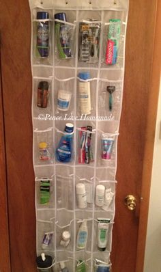 So clever... will have to adapt it slightly for the boat head & aft cabin. Peace.Love.Homemade: Small Bathroom Organization and Storage