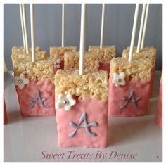 Baby shower food ideas for girls rice krispies 67 ideas for 2019 Baby Shower Treats, Baby Shower Parties, Baby Shower Gifts, Baby Shower Recipes, Homemade Baby Shower Favors, Cheap Baby Shower Favors, Baby Shower Candy, Baby Shower Desserts, Fiesta Baby Shower
