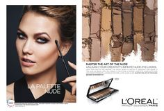 Karlie Kloss models neutral makeup hues in L'Oreal Paris 'La Palette Nude' campaign